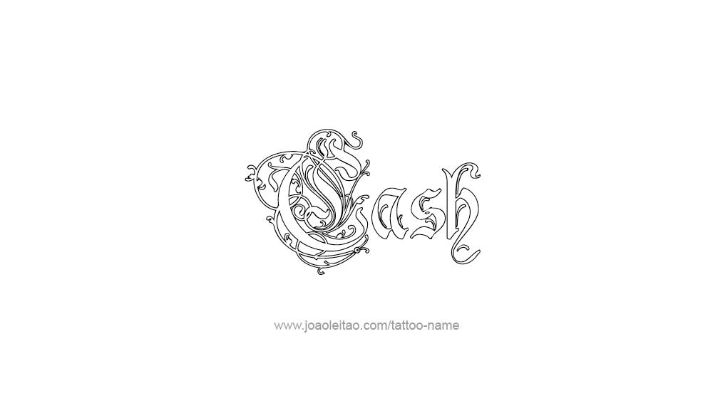 cash name tattoo designs. Black Bedroom Furniture Sets. Home Design Ideas