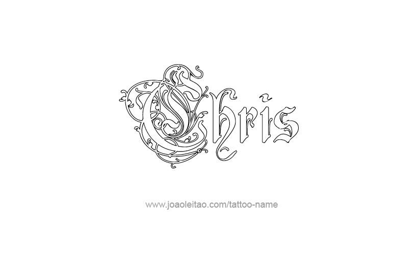 chris name tattoo designs. Black Bedroom Furniture Sets. Home Design Ideas