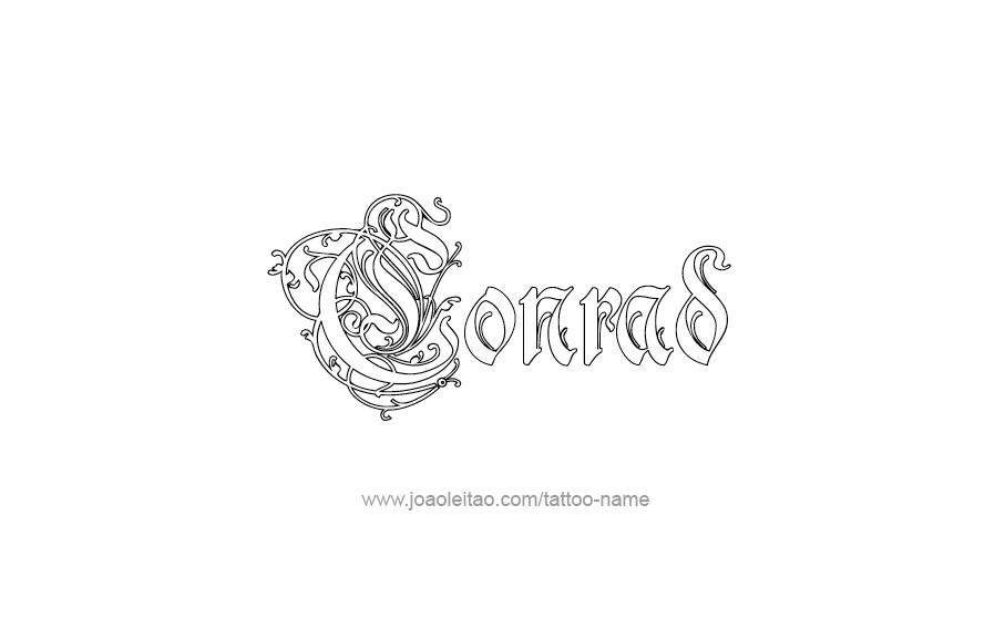 conrad name tattoo designs. Black Bedroom Furniture Sets. Home Design Ideas