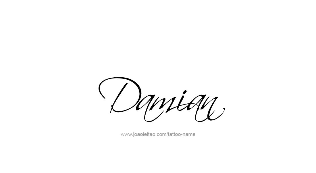 damian name tattoo designs