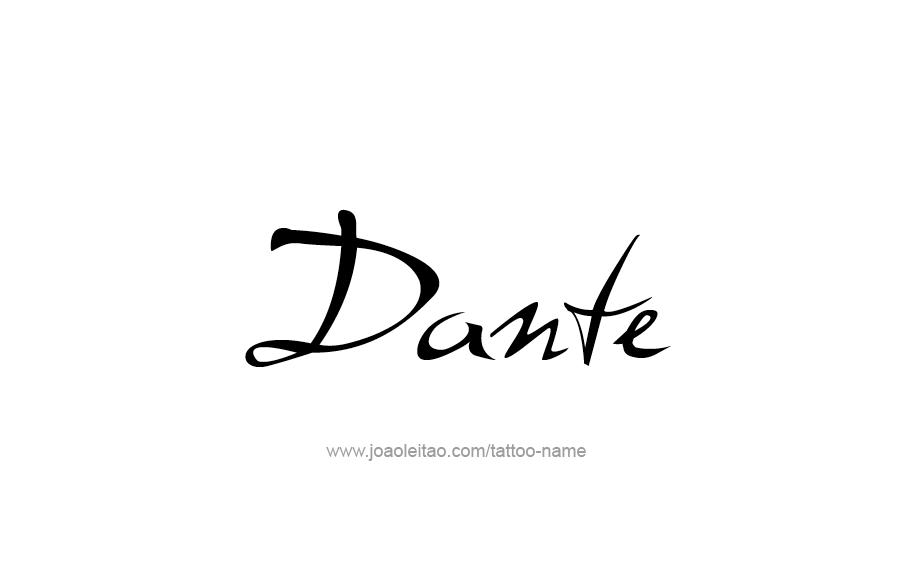 Dante Name Tattoo Designs