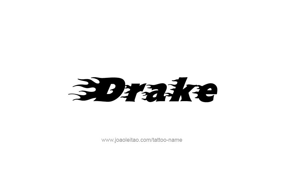 Drake Name Tattoo Designs