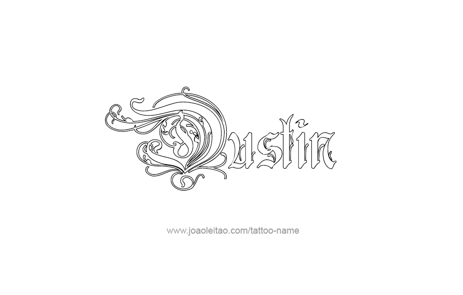 Dustin Name Tattoo Designs