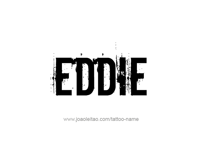 eddie name tattoo designs