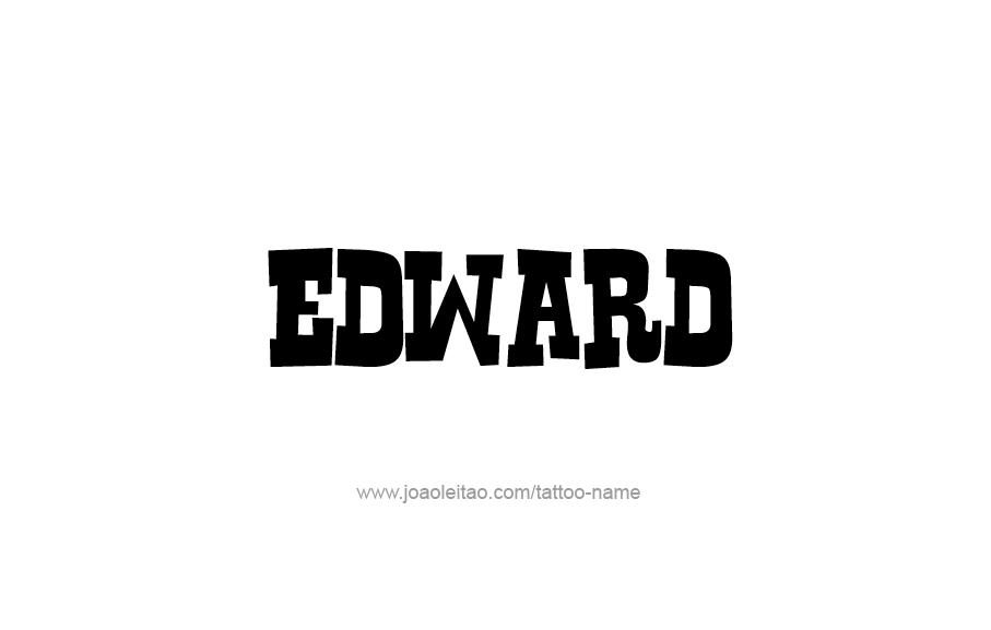 Edward Name Tattoo Designs