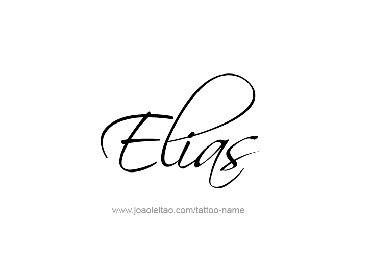 elias name tattoo designs