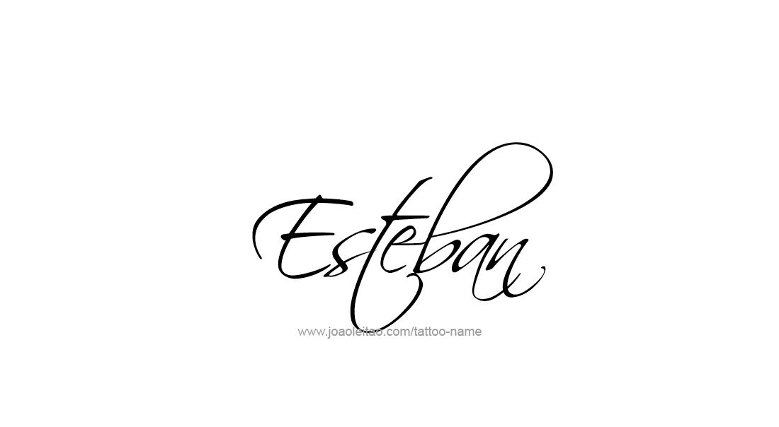 Esteban Name Tattoo Designs