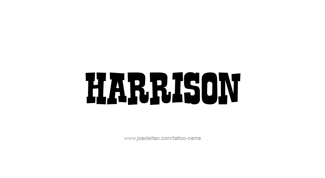 harrison name tattoo designs. Black Bedroom Furniture Sets. Home Design Ideas