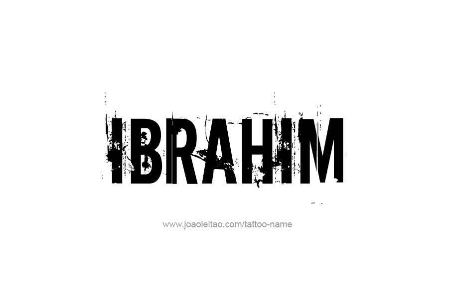 Ibrahim Name Tattoo Designs