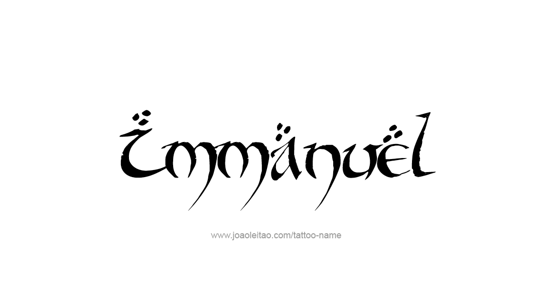 Immanuel Name Tattoo Designs