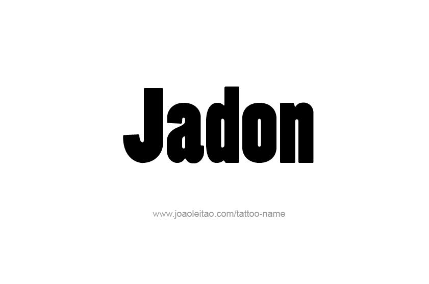 Jadon Name Tattoo Designs