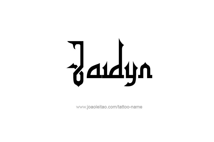 Tattoo Design Name Jaidyn