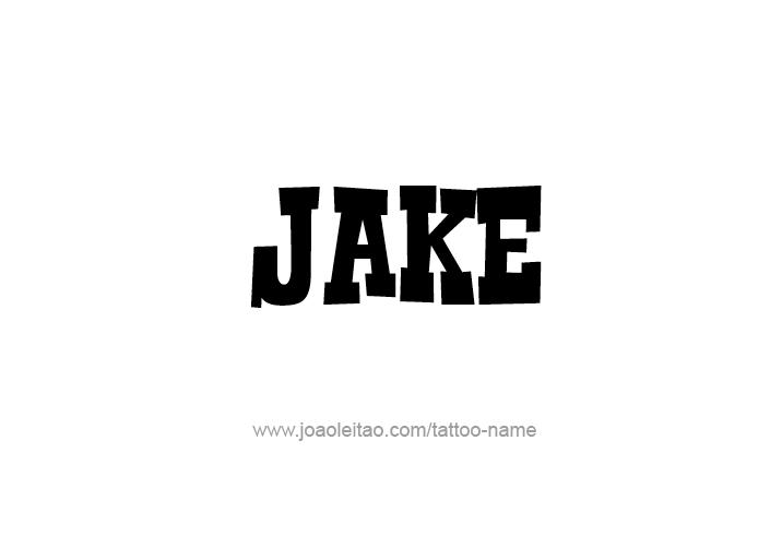 Jake Name Tattoo Designs