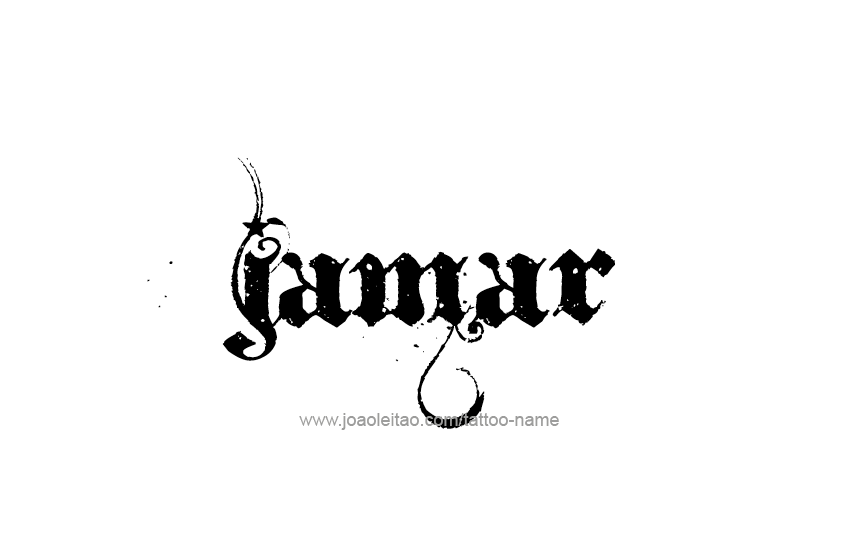 Jamar Name Tattoo Designs