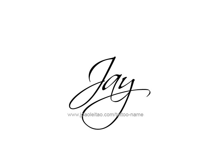 jay name tattoo designs. Black Bedroom Furniture Sets. Home Design Ideas