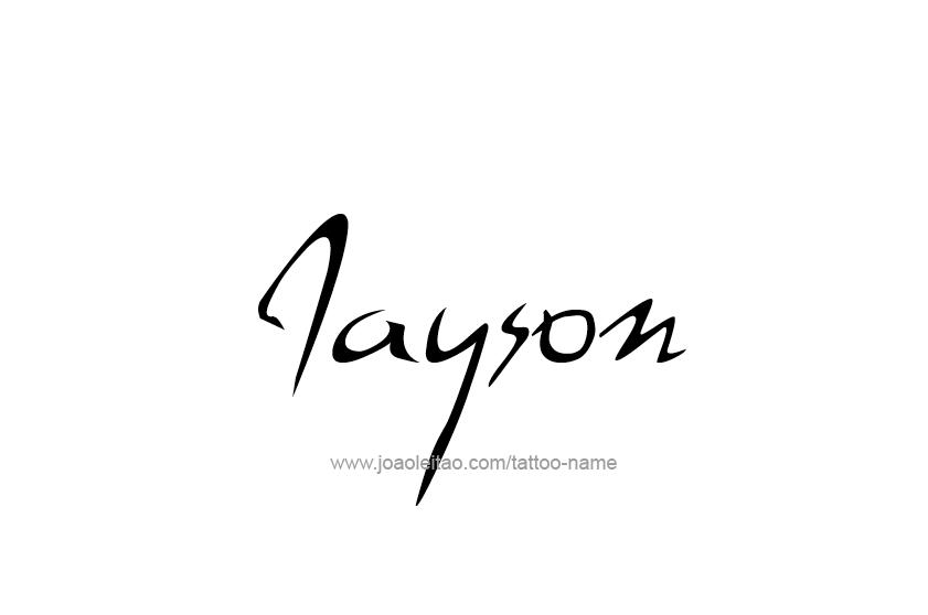 Jayson Name Tattoo Designs