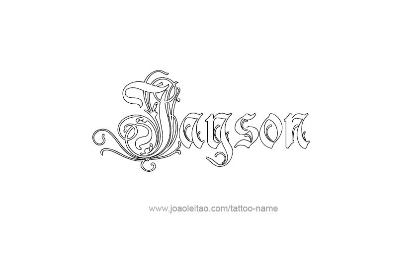 jayson name tattoo designs. Black Bedroom Furniture Sets. Home Design Ideas