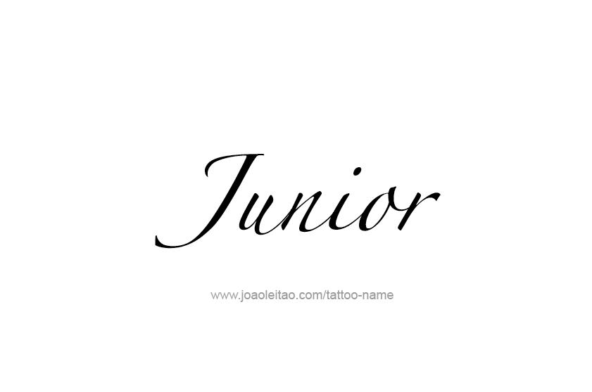 junior name tattoo designs. Black Bedroom Furniture Sets. Home Design Ideas