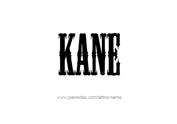 Acrostic Name Poems For Boys: Kane