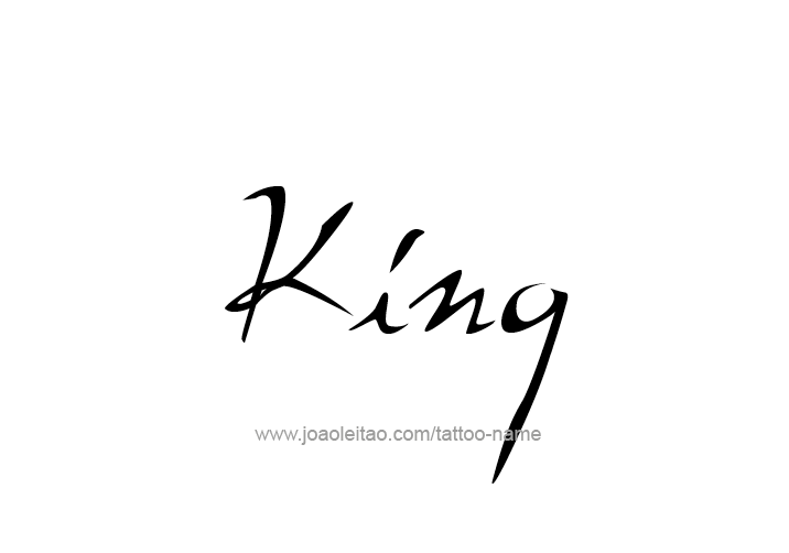 king lettering tattoo