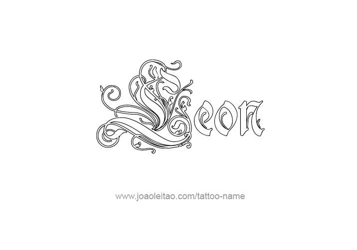 leon name tattoo designs. Black Bedroom Furniture Sets. Home Design Ideas
