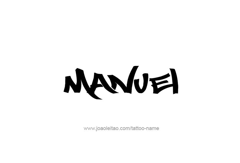 Manuel Name Tattoo Designs