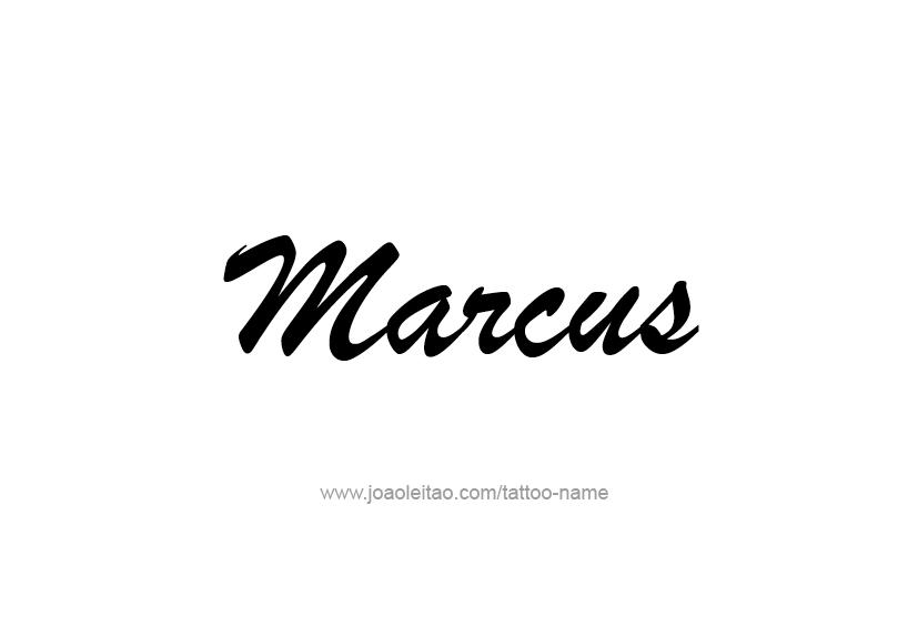 marcus name tattoo designs