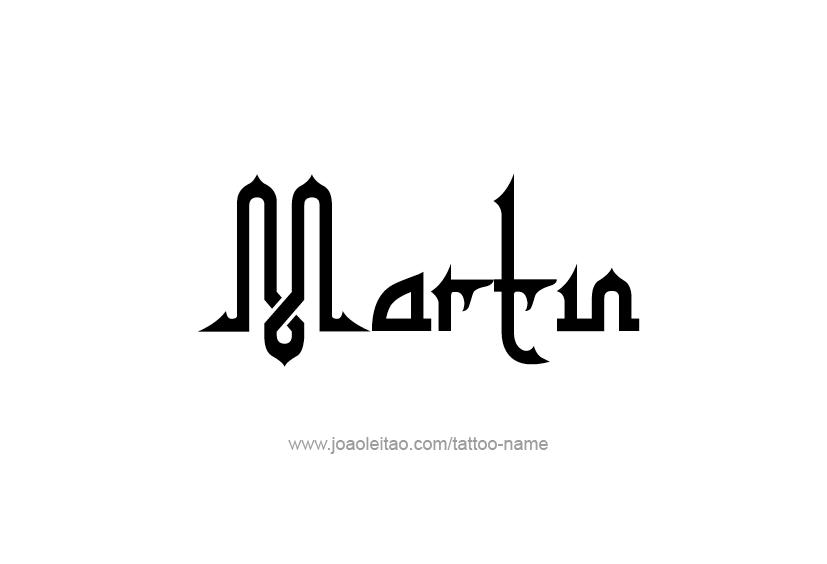 Martin Name Tattoo Designs