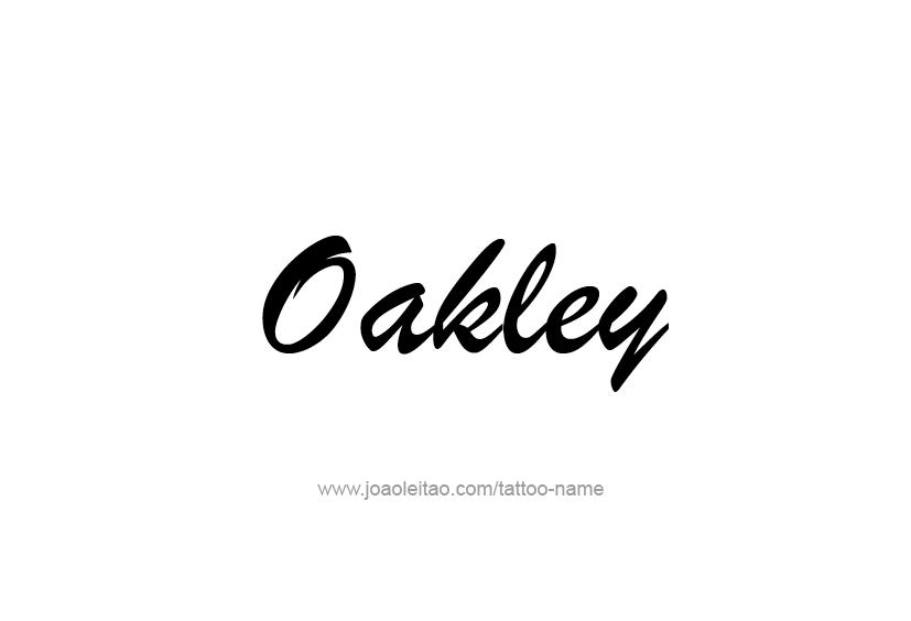 oakley name tattoo designs