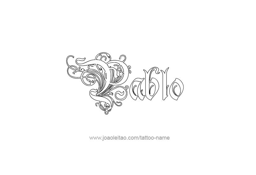 Pablo Name Tattoo Designs