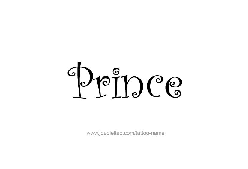 Van Rental Houston >> Prince Name Tattoo Designs
