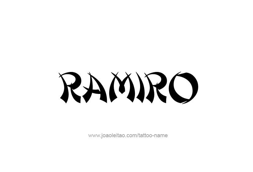 ramiro name tattoo designs. Black Bedroom Furniture Sets. Home Design Ideas