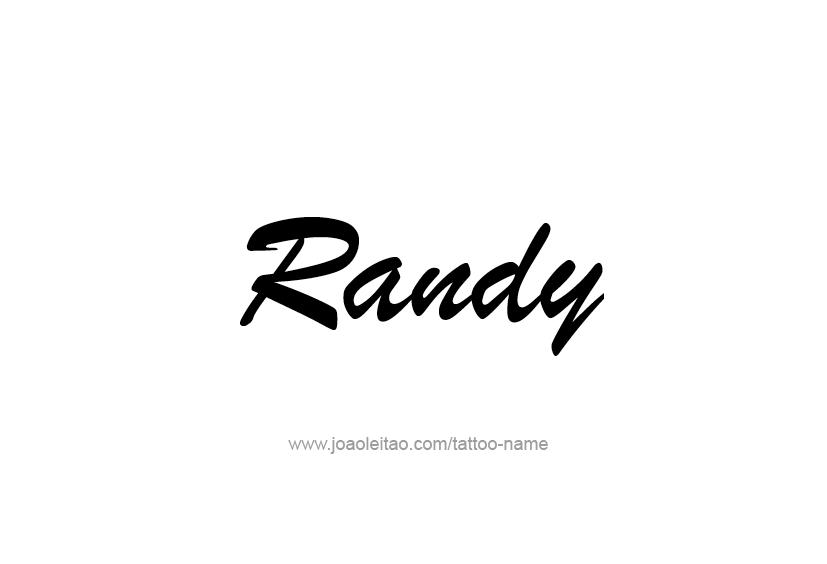 randy name tattoo designs