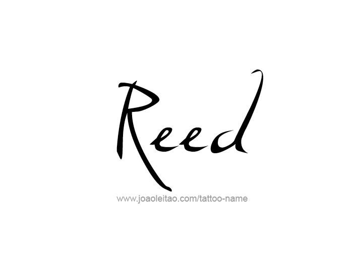 reed name tattoo designs. Black Bedroom Furniture Sets. Home Design Ideas