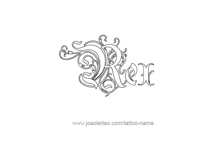 Rex Name Tattoo Designs