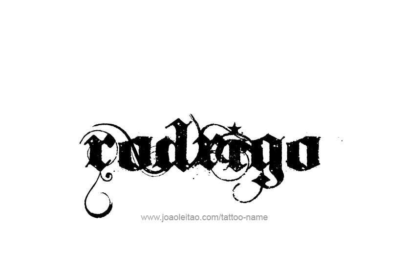 rodrigo name tattoo designs. Black Bedroom Furniture Sets. Home Design Ideas
