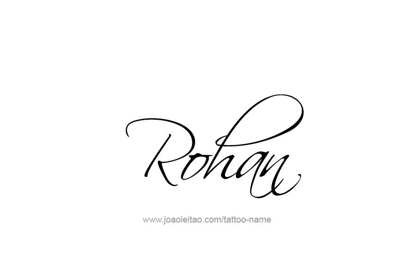 Name Logo Design Tattoo Design Name Rohan