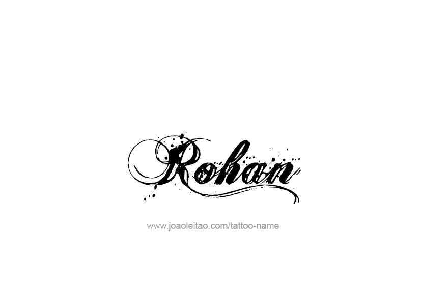 rohan name tattoo designs
