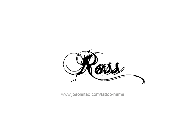 Ross Name Tattoo Designs