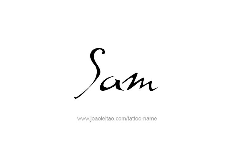 Sam Name Tattoo Designs