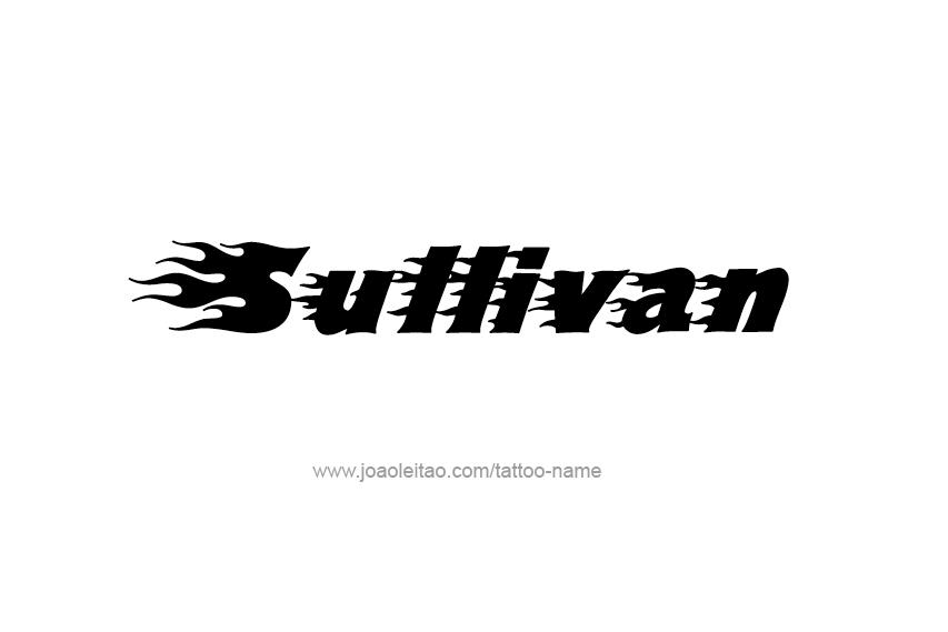 Sullivan Name Tattoo Designs