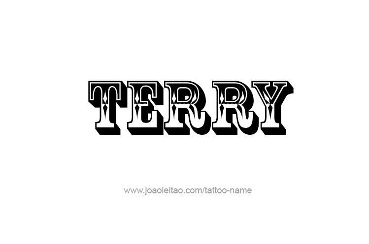 terry name tattoo designs