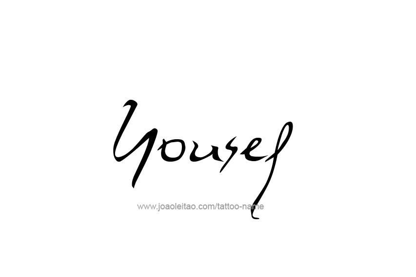 Tattoo Design Name Yousef