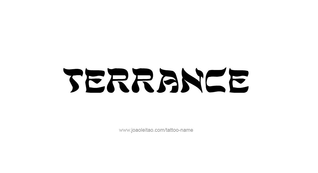 terrance name tattoo designs. Black Bedroom Furniture Sets. Home Design Ideas
