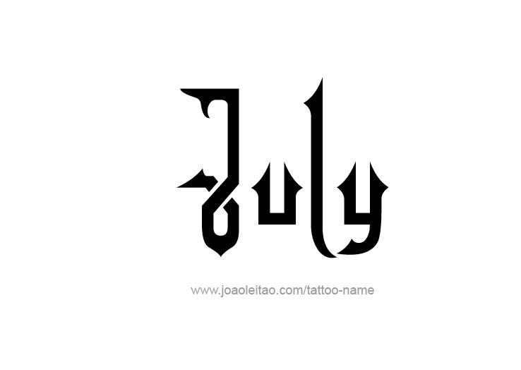 Tattoo Design Name July