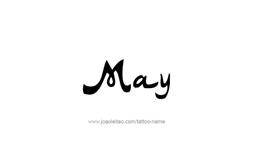 Tattoo Design Name May