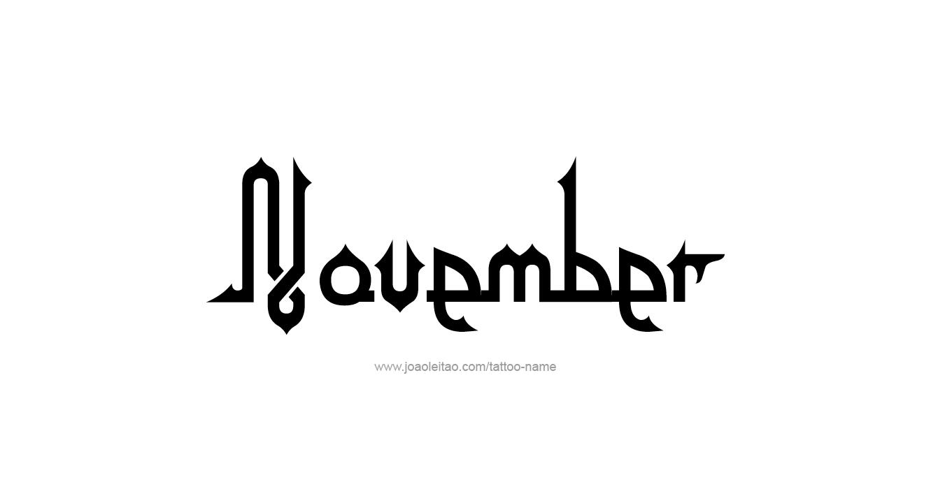 Tattoo Design Name November