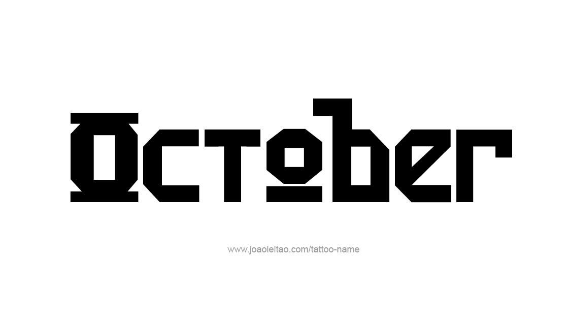 Tattoo Design Name October