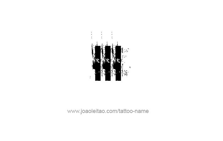 Tattoo Design Roman Numeral III (3)