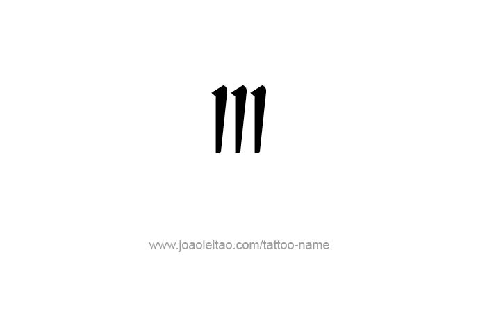 Roman Numeral Iii Tattoo